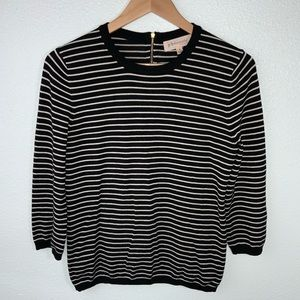 Philosophy Black White Stripped Pullover Sweater